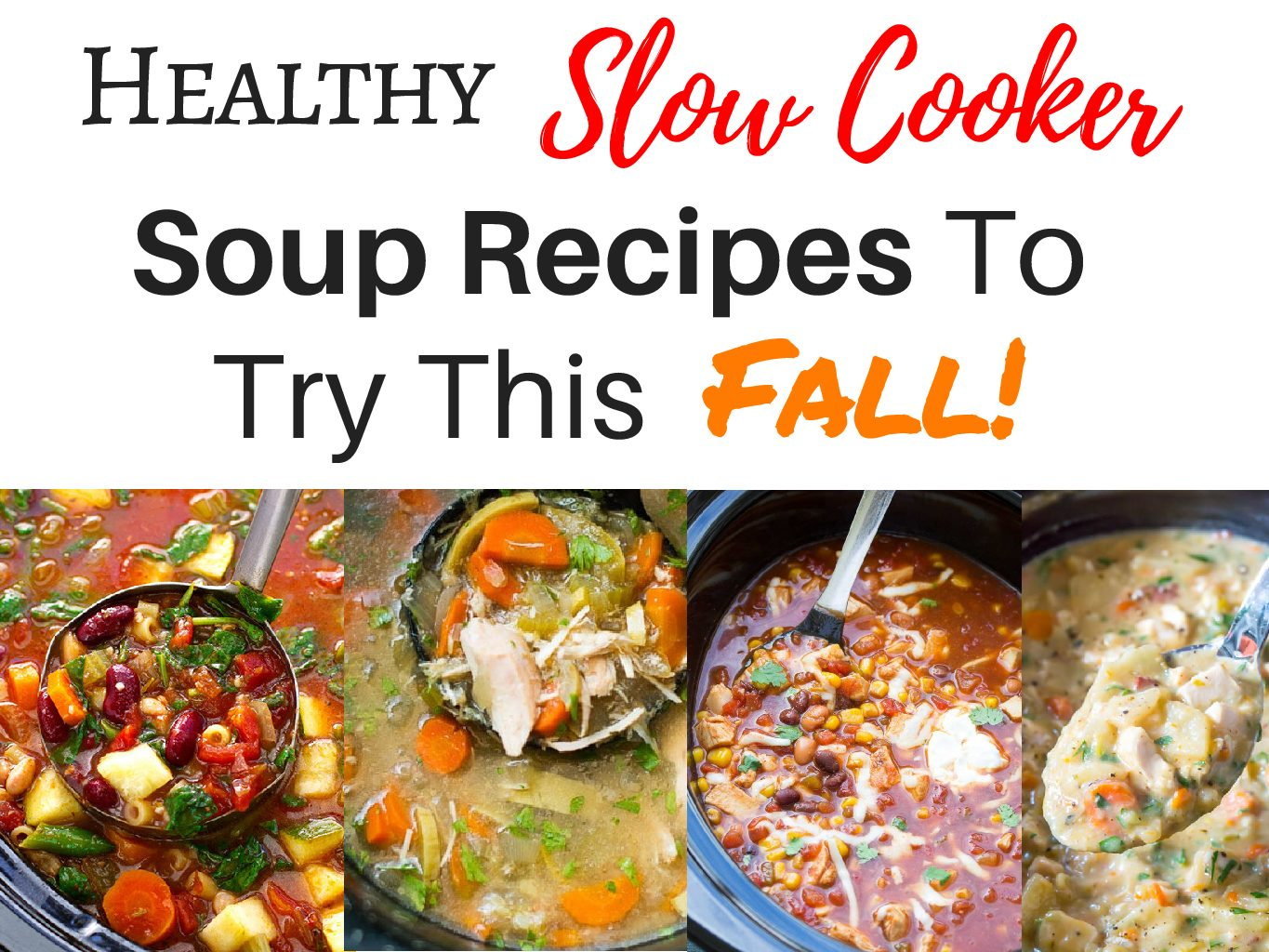 Slow cooker soup recipes that are easy and healthy for busy days youre going to absolutely love these recipes each is unique completely healthy and pretty simple forumfinder